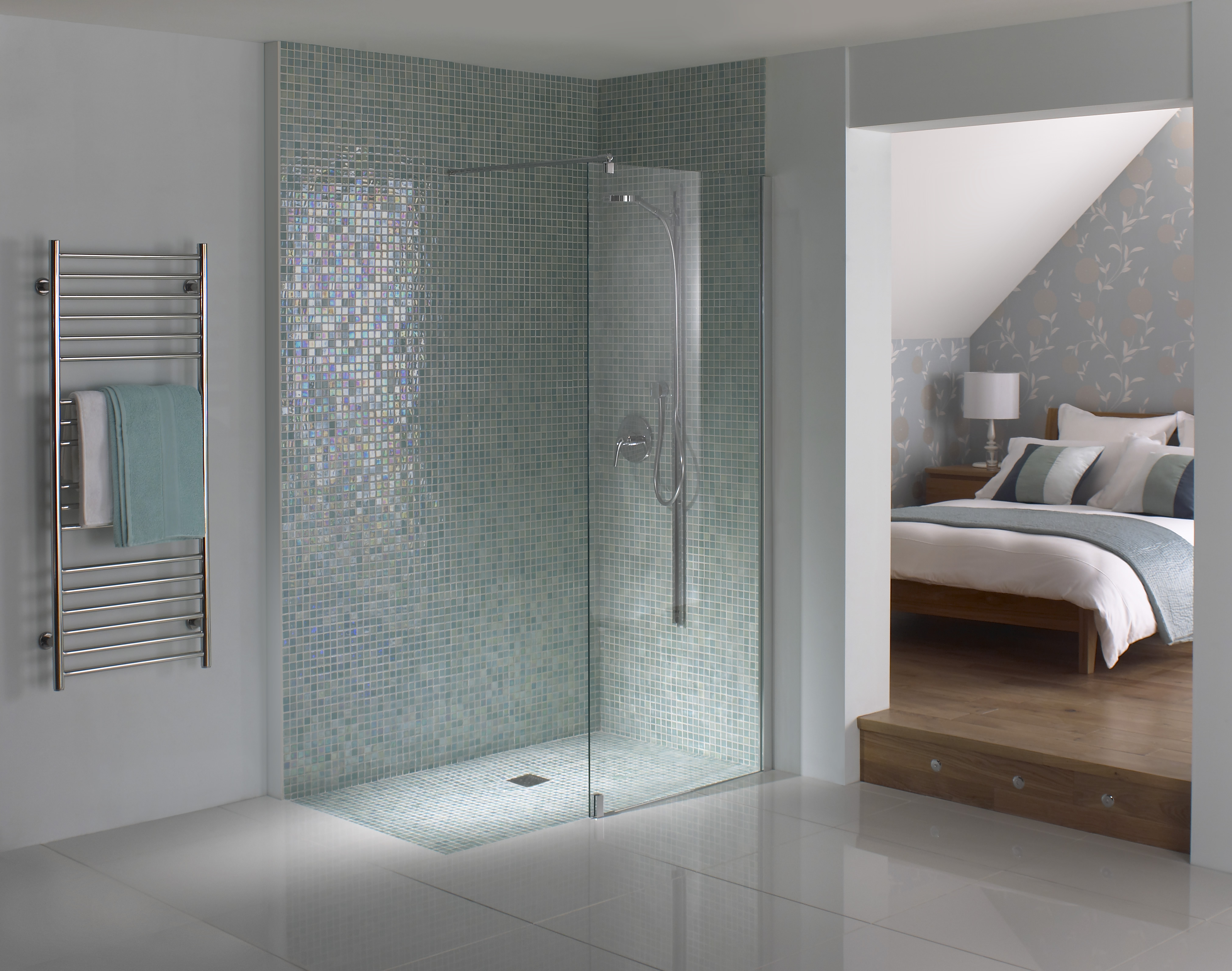 Walk in shower or wet room consider the benefits for Small bathroom designs nz