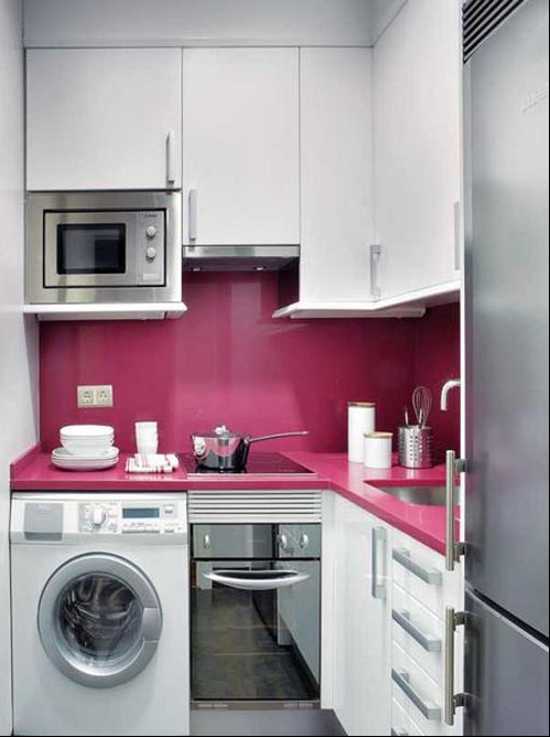 laundry in the kitchen