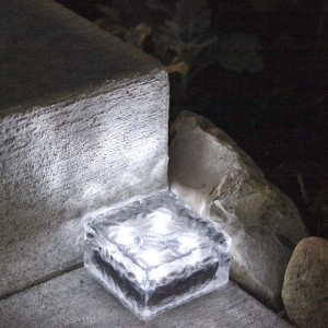 led glass pavers