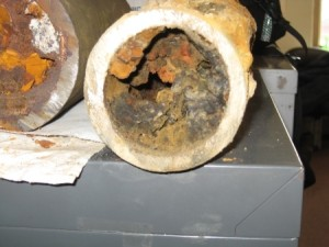 old house pipes