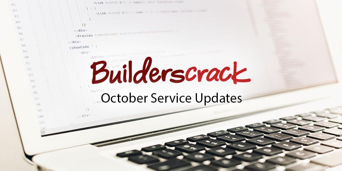 October 2018 Service Updates