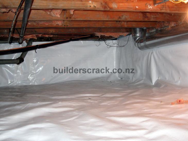 Install On Ground Moisture Barrier And Under Floor
