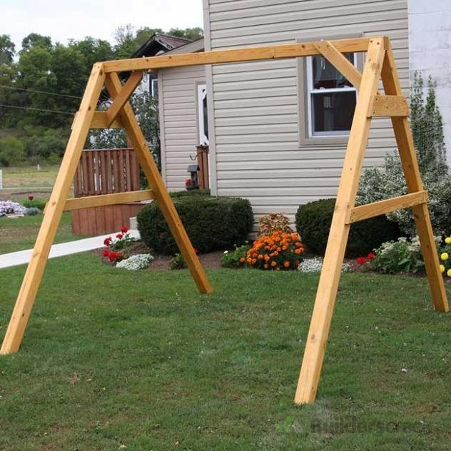 Building a custom wooden swing frame 135040 for Building a wooden swing