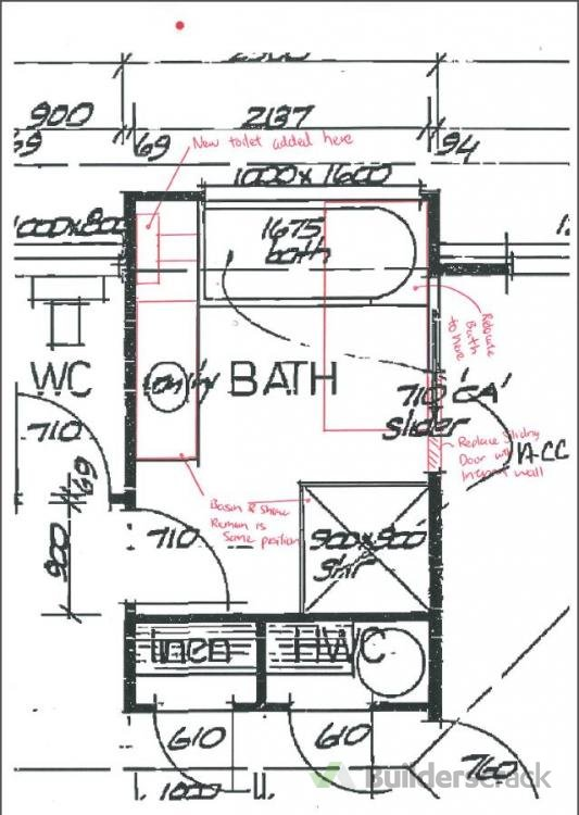 Layout And Plumbing Plan For Building Consent To Add A Toilet To - Bathroom plumbing layout drawing