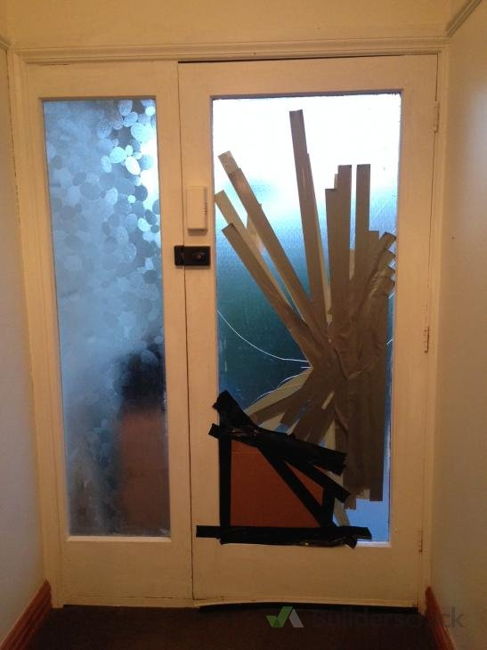 Smashed glass replacement front door 143414 for Front door quote online