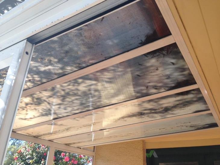 Replace Small Conservatory Roof With Polycarbonate Sheets