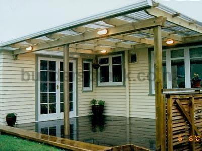 Pergola Style Roof Over Large Deck 3341 Builderscrack