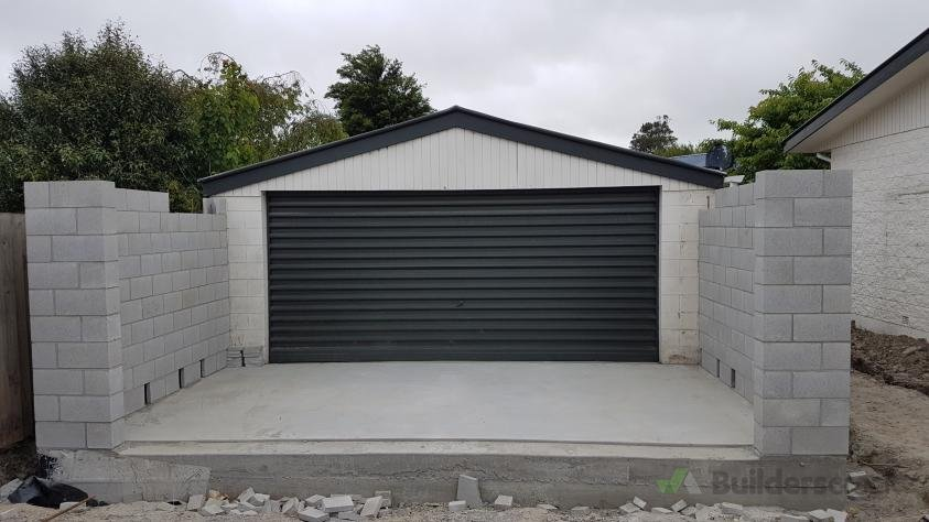 Garage Extension Completion Install Trusses Facia Flashings And