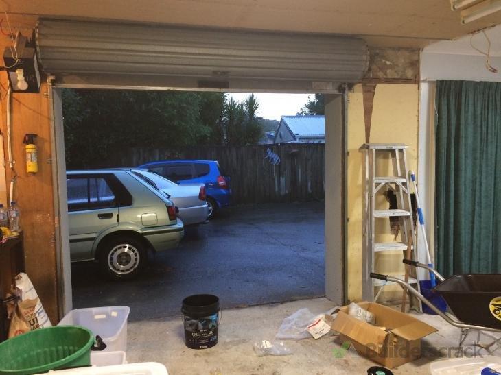 Replacing Garage Roller Door With Ranch Slider For Workshopgarage