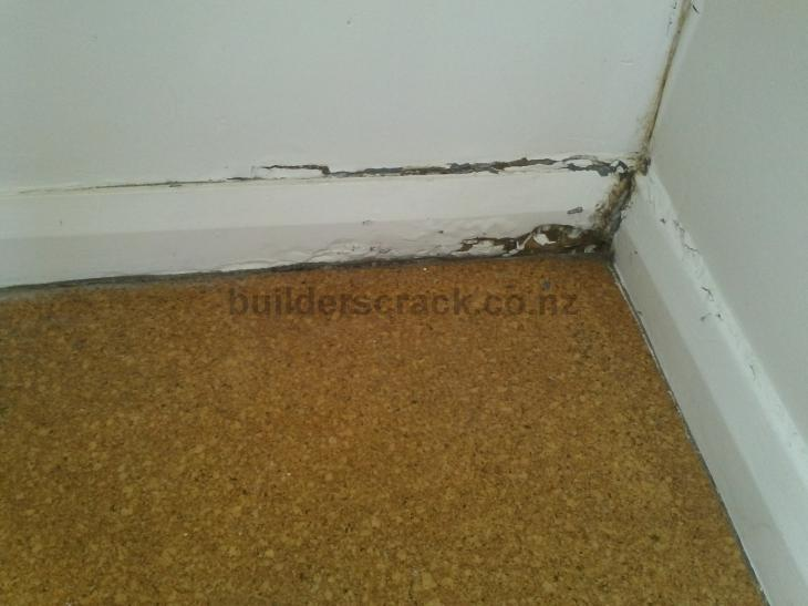 image 18433. Rotten skirting board in bathroom needs replacing    49349