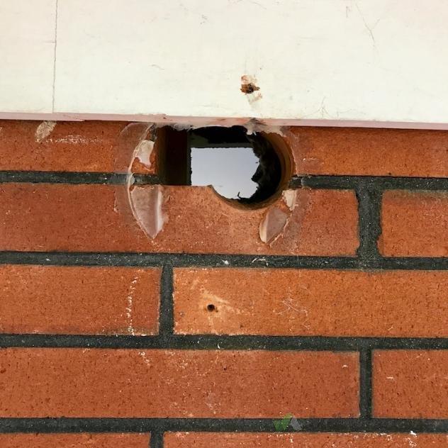 Repair Hole In Brick Wall After Removal Of Heat Pump 212295 Builderscrack