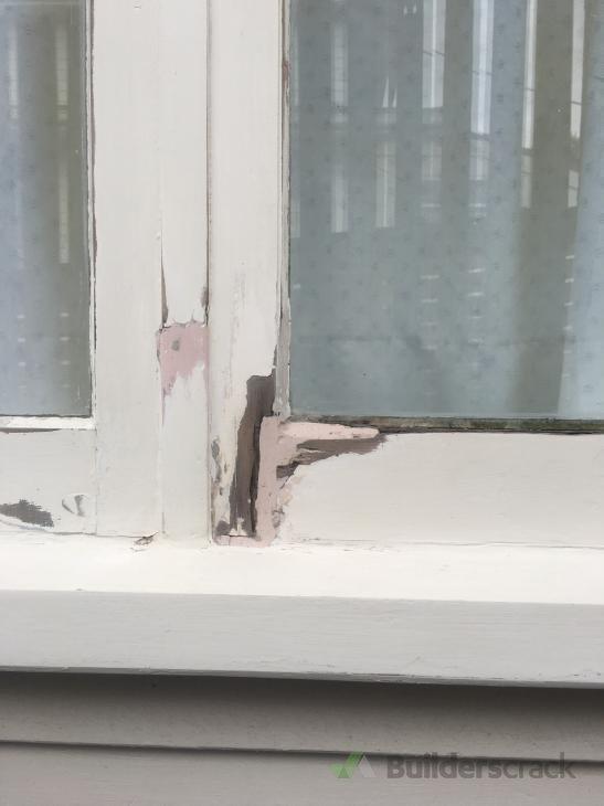 Window frame repair (# 260095)   Builderscrack