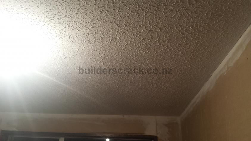 how to fix a crack in a stipple ceiling