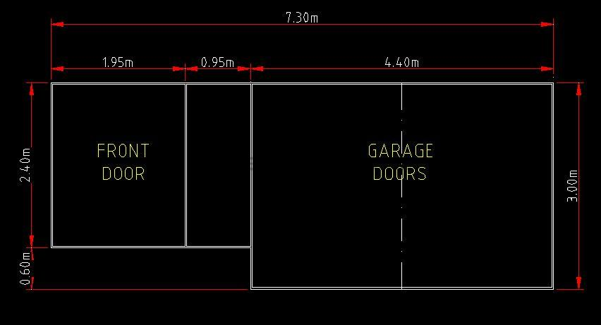 Custom timber combined front garage door and frame for Swing out garage doors price