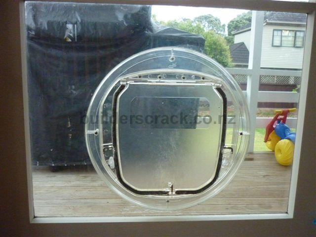 Install cat door in glass and replace glass panel that had dog door image 5250 planetlyrics Gallery