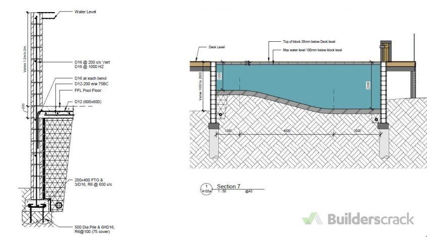 Pool Grounding Details : Concrete pool new  builderscrack